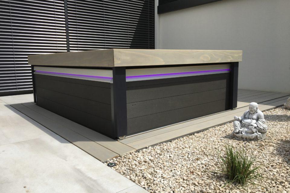 moderne Abdeckung Oceanus Lounge 2 Whirlpool
