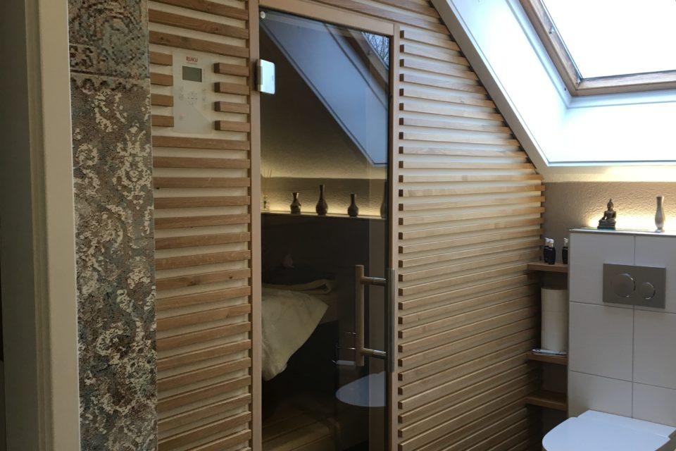 RUKU manufaktur Sauna Dachschräge einbau RUKU Schweiz Offizielle Vertretung RR Variationen GmbH RRV