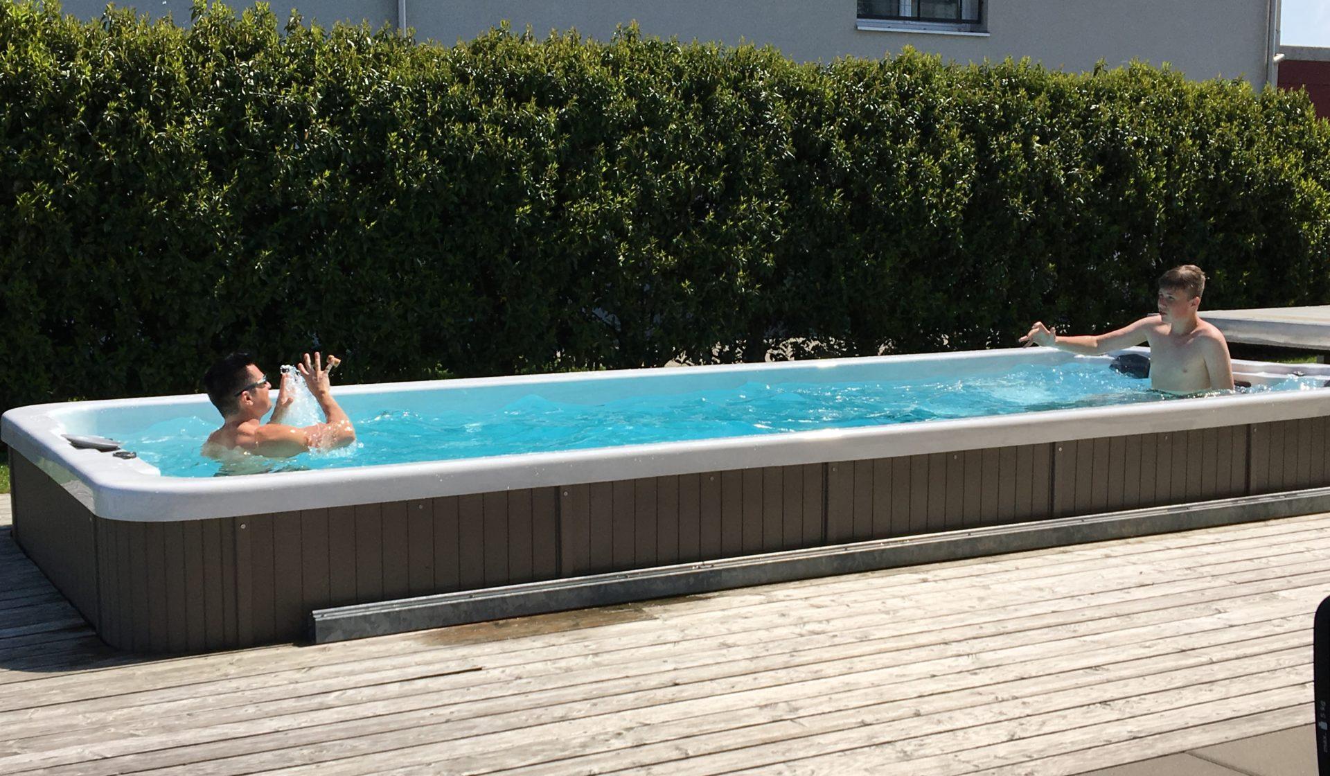 Schwimmspa Oceanus Schwimm 55 eingebaut