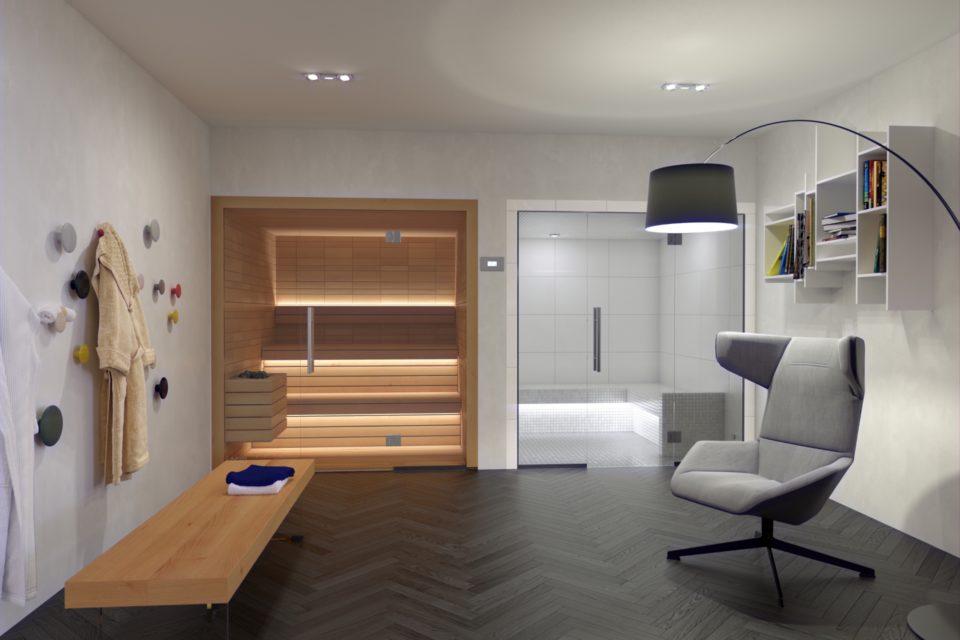 Electa Auroom RRV Sauna Modern Glas