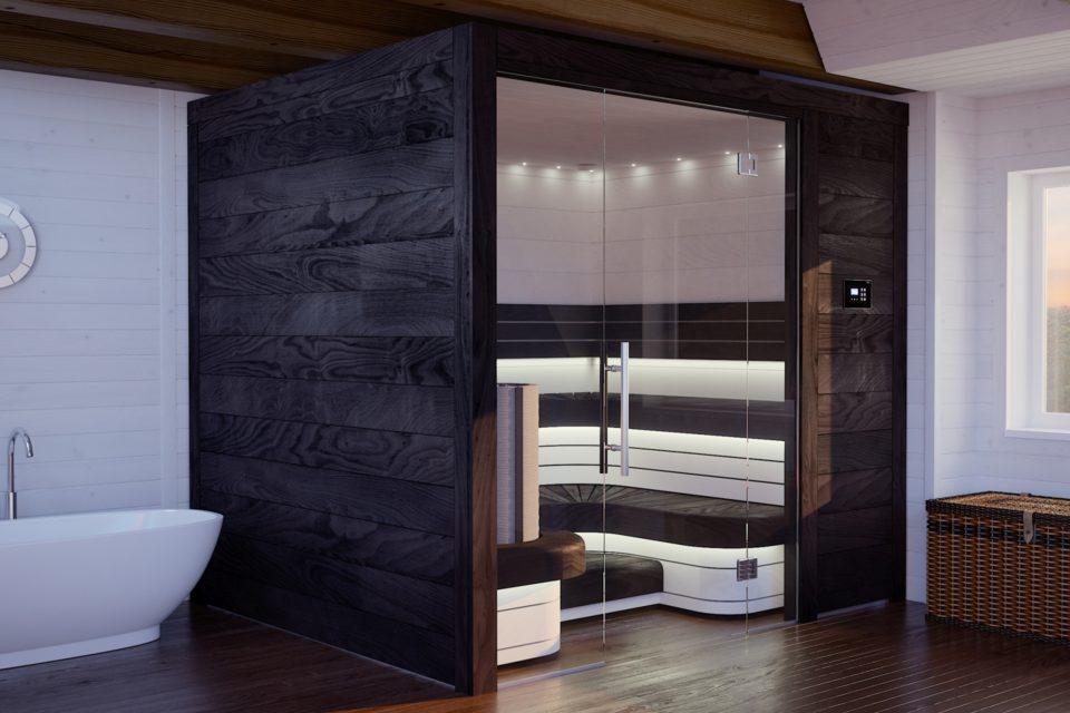 Massgefertigte Sauna von RRV Auroom