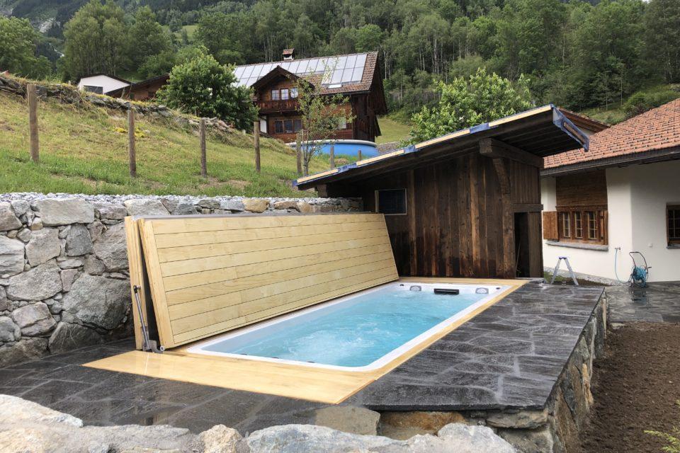 Schwimmspa Pool shwimmspa mit Abdeckung automatisch klappbar von RRV